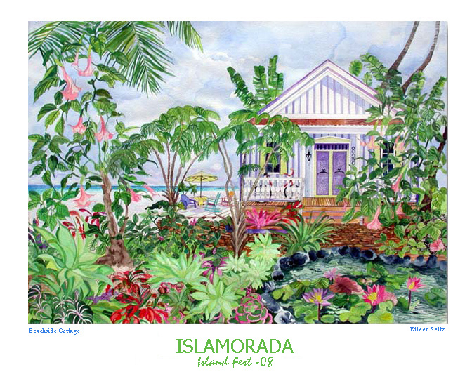 Beachside Cottage Poster
