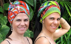 Fiesta Palms Orange - Headscarf