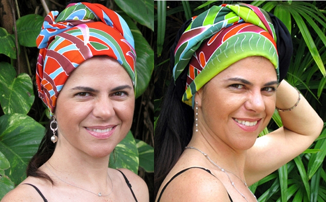 Fiesta Palms Orange - Headscarf