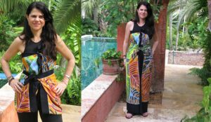 Fiesta Palms Rust -Long Dress or Short Top