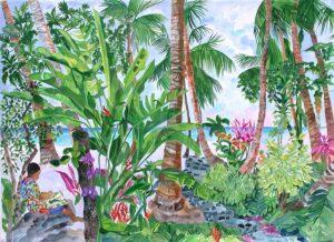 608-Art on Tile - Sailboat Beach