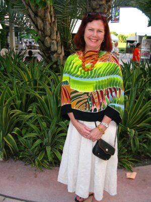 Fiesta Palms Rust  front shawl