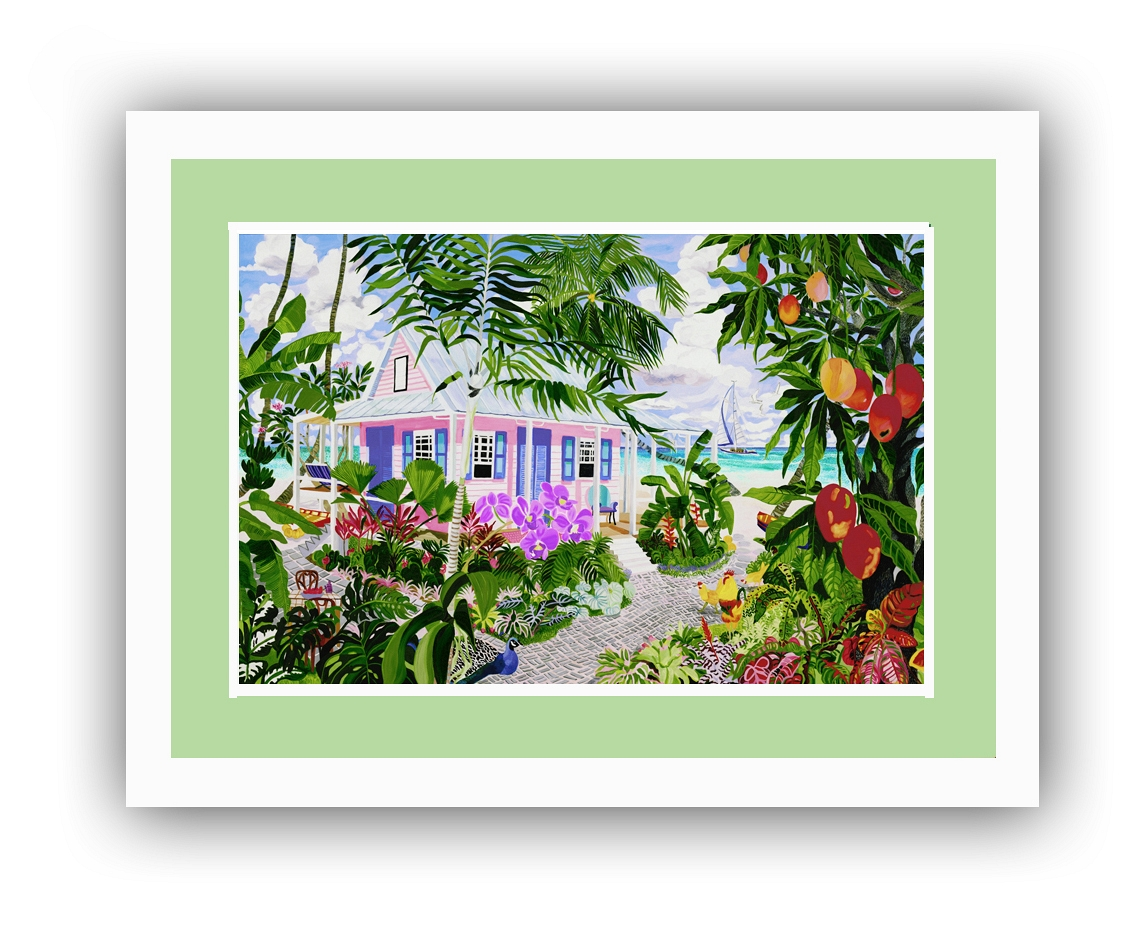 680-The Mango House Framed
