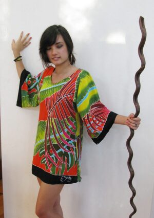 728-Fiesta Palms Orange Tunic