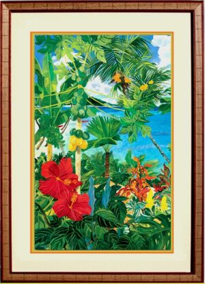 Hello Hibiscus Framed