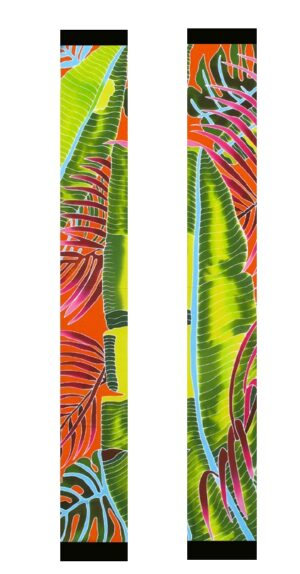 FIesta Palms Orange Scarf Both sides