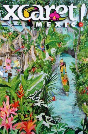 Xcaret Mayan River Scene