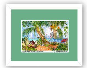 Framed Under the Golden Coconuts - Turf