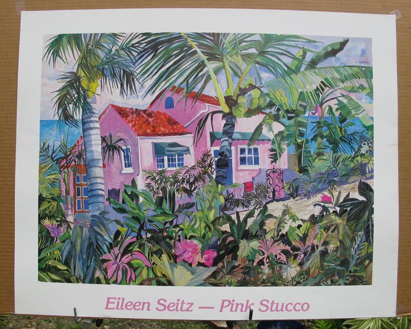 Pink Stucco Poster Print