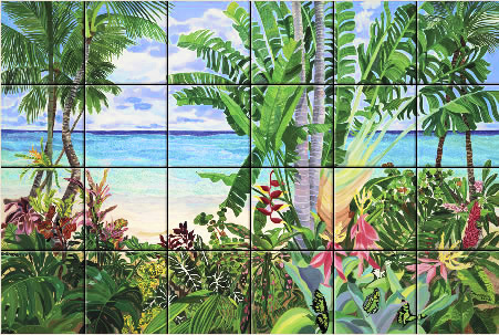 Art on Tile - Butterfly Beach 4 x 4