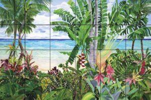 Art on Tile - Butterfly Beach 6 x 6
