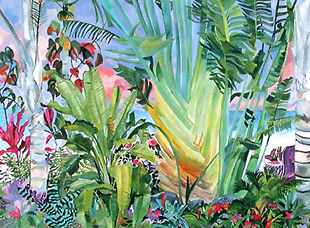 Up Close Traveler Palm